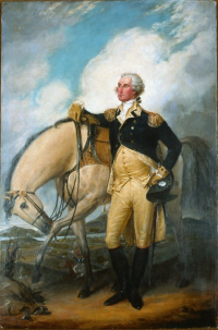 George Washington with horse by John Trumbull 1790