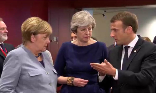 Angela merkel theresa may and emanuel macron