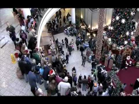 Christmas carolers at a mall