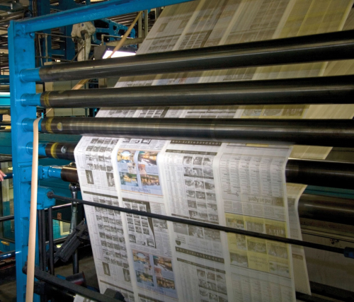 Newspaper printing press